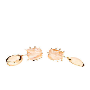 RRP €365 PEET DULLAERT Vaia Jacket Earrings HANDMADE Pearl & Shell Embellished