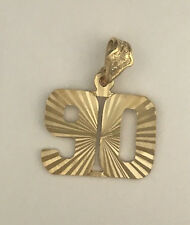 Number 90 Pendant Game Day 24k gold plated diamond-cut Team Player Number 90