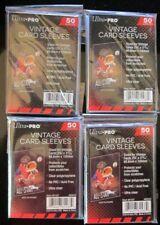 200 ULTRA PRO VINTAGE CARD SLEEVES 4 PACKS ACID FREE NO PVC