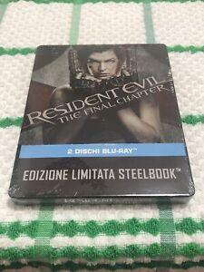 resident evil the final chapter steelbook Nuovo Sigillato Italia Fuori Catalogo