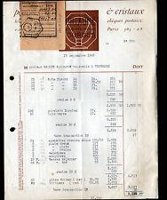 """BOURGES (18) VAISSELLE / SERVICES DE TABLE Porcelaine Cristal """"GUILLAUME"""" en1948"""