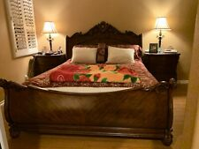 Wooden King Size Bed With 2 Nights Stands And Wooden Armor Television Set