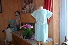 robe tartine et chocolat 2 ans haut double 48% LIN TURQUOISE rubans modele magni