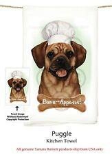 "Puggle Dog 29'' x 29"" Flour Sack Towels, Bone-Appetite !"