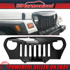 Fits 97-06 Jeep Wrangler TJ V1 Angry Bird Front Mesh Grille Gloss Black ABS