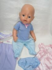 """16"""" (42cm) HARD VINYL BABY BORN DOLL BY ZAPF CREATIONS + EXTRA TAGGED OUTFITS"""