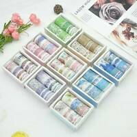 10 Rolls/set Washi Stickers Tape Set Petal Flower Sky Sea Paper Masking Tape NEW
