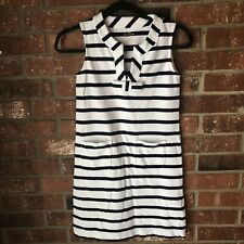 Kate Spade Tropez Navy and White Striped Cotton Shift Dress Nautical Theme XXS