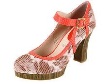 Ruby Shoo Ladies Vegan Friendly Retro Style Ankle Strap High Heel Platform Shoes