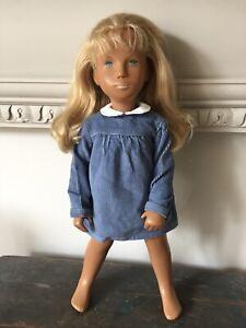 Lovely Vintage Sasha Cora Doll Original Blue Corduroy Dress NO DOLL