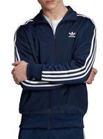 Adidas Mens Activewear Navy Blue Small S Full-Zip Firebird Track Jacket $80 216