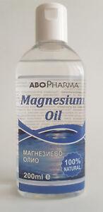 !!! 200 ml.  Pure Magnesium oil Magnesium Chloride Fast Absorption !!!