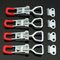 4Pcs Toggle Galvanized Iron Latch Catches Hasp for Case Box Chest Trunk Tools