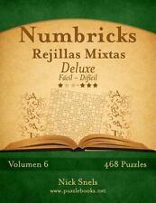 Numbricks: Numbricks Rejillas Mixtas Deluxe - de Fácil a Difícil - Volumen 6...