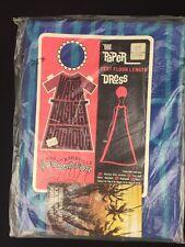 Vintage 1960s Waste Basket Boutique Long Tent Dress PAPER Dress Blue Geometric
