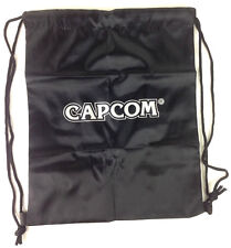 Capcom Black Drawstring Bag Tote San Diego Comic Con SDCC Video Game Co Logo New