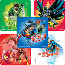 25 Justice League Christmas Stickers Party Favors DC Comics Batman Superman