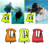 Kids/ Adults Inflatable Life Jacket Vest for Snorkeling Surfing Boating Swimming