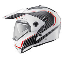CABERG TOURMAX SONIC WHITE BLACK RED DUAL SPORT FLIP UP FRONT MOTORCYCLE HELMET