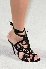 Marchesa Runway Suede Cut-out Sandals (36,5) $1075