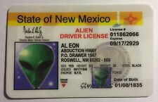 Alien - New Mexico - Drivers License Novelty - Funny UFO Space Monster