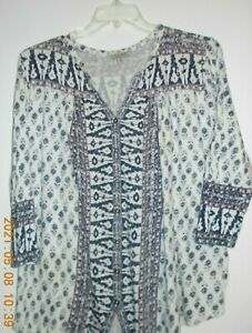 """LUCKY BRAND, BUTTON-UP, TOP,  3/4 SLEEVES, SIZE 2X, BUST 54"""""""