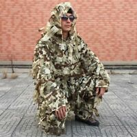 3D Sniper Desert Camo Ghillie Suit Lightweight Camouflage Hunting Jacket&Pant