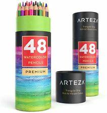 Arteza Watercolor Pencils, Triangle Shaped - Set of 48