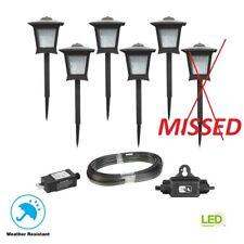 Low Voltage Black Outdoor Integrated LED Landscape Path Light (5 -Pack Kit)