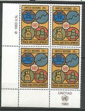 Nations Unies Bloc de 4 YT: 389 neufs ★★ Luxe 1983 / MNH BDF