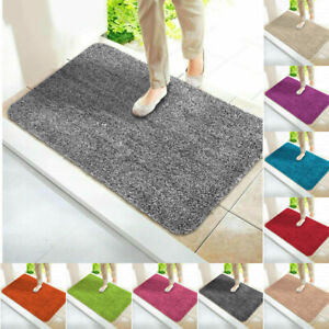 Non Slip Shaggy Rug Indoor Door Mat Water Absorbent Pedestal Mats Washable Rugs