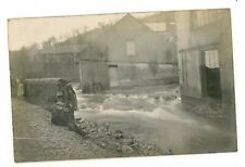 CARTE PHOTO DE 1910 INONDATION DE PARIS FABRIQUE D'AMIANTE