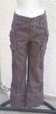 Pantalon Marron Transformable En Pantacourt Et Compagnie Taille 36