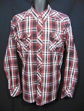 PANHANDLE SLIM 90 Proof Mens Western Style Shirt XL Plaid Pearl Snap Rodeo Dance