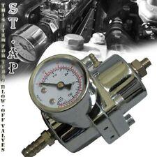 Universal Aluminum Adjustable 1-140 Fuel Pressure Regulator+Gaug?E+Hose Silver