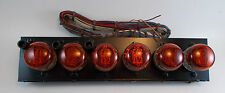 6 PCS. TELEFUNKEN ZM1020 NIXIE TUBES WITH SOCKETS ON A PANEL