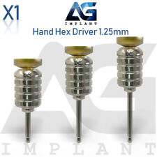 Hand Hex Driver 1.25mm Manual Screwdriver Abutment Tool For Dental Implant
