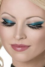 Smiffy's Ciglia Cristalli Glamour-Nero