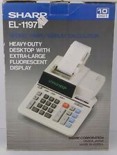 Sharp El-1197iii 10- Digit Print / Extra Large Display Heavy Duty Calculator