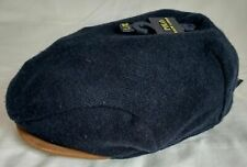 Polo Ralph Lauren Wool Driving Cap Hat Newsboy Cabbie L/XL Navy Sheep Suede Bill