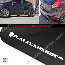 "Rally Armor UR ""Black Mud Flaps w/ White Logo"" for 2015-2018 Ford Fiesta ST 5DR"