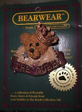 "Bearwear from Boyds Bears and Friends ""The Queen"" fashion pin ~ New on card"
