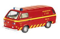 """VW T3 box van """"fire engine"""" - 1:87 / H0 Gauge - Schuco (25613)"""