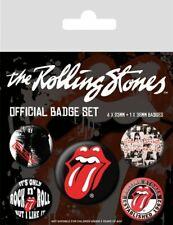 Button Badge 5er Pack ROLLING STONES - Zunge Tongue 1x38 & 4x25mm NEU BP80465