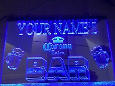 personalized Bar Beer Custom Led Neon mirrored Light Sign man cave pub cafe