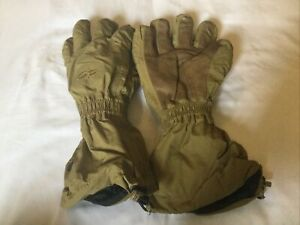 Outdoor Research extreme Cold weather gortex gloves fleece inserts coyote brown