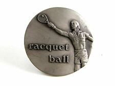 1979 Racquet Ball Belt Buckle by Indiana Metal Craft 4102014