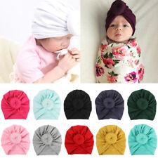 AU_ Newborn Toddler Kids Baby Boy Girl Indian Turban Knot Cotton Beanie Hat Cap