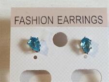 Orecchini di bigiotteria farfalline blu placcato argento