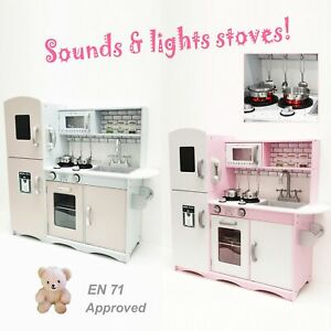 M2S Kids Wooden Play Kitchen Pretend Play Utensils Toys Cooking Role Play Set